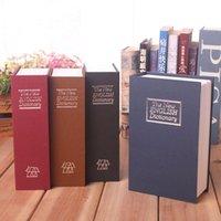 çocuk kitapları rengi toptan satış-Simülasyon Kitap Güvenli Kutu Ile Anahtar Çok Renkli Tasarruf Para Kasaları Çocuk Hediyeler Için Kumbara Yeni Engilsh Sözlük 25 5 s x C R