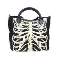 Wholesale handbag gothic for sale - Group buy Women Skeleton Bones Luminous Handbag Bats Skulls Eyeballs Gothic Shoulder Bag Horror halloween Printing Noctilucence Handbag FFA941