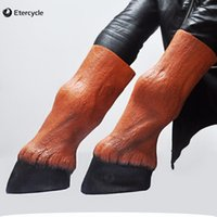 Wholesale Horse Fancy Dress - Halloween Mask Horse Foot Animal Latex Gloves Party Props Fancy Dress (a Pair of)