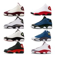 Wholesale free up games - free ship 13 Chicago DMP Bred Basketball Shoes Men 13s Black Cat He Got Game Playoffs Hyper Pink Sneakers