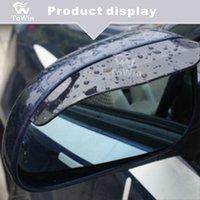 espejos de vehículos al por mayor-Visor de la ventana Se adapta a vehículos universales A prueba de humo a la moda Cobertura para cejas Camión Auto Vista trasera Visor de espejo lateral / par / impermeable.