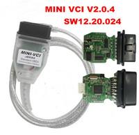 Wholesale Vci Tis Techstream - 2018 New Firmware V2.0.4 MINI VCI Single Cable SW V13.00.022 For Toyota TIS Techstream FTDI FT232RL Multi-Language MINI-VCI via HK POST Free
