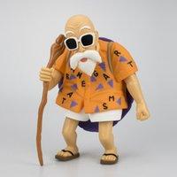 brinquedos de grande figura venda por atacado-Extra Grande Anime Dragon Ball Figura de Ação Contas Imortal Tartaruga Figura Roupas Laranja 25 cm Modelo de Brinquedo de Silicone Ornamentos