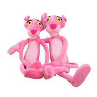 Wholesale girl naughty - panther plush 40 CM Cute Naughty Leopard Pink Panther Plush Stuffed Toys Baby Kids Doll Brinquedos Factory Price