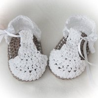 Wholesale Baby Boy Size 12 Months - New Baby Girls Shoes Handmade First Walkers Newborn Baby Infant Boys Girls Crochet Knit Toddler Shoes SIZE 0 to 12 Months