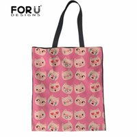 bolsos de cerdo al por mayor-FORUDESIGNS Bolsos de las mujeres Animal 3D Pig Print Tote de Dibujos Animados Bolsos de Hombro para Damas Coon Crossbody Almacenamiento Shopper Bag mujer