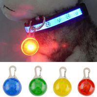 Wholesale Dog Flash Light - Pet Dog Cat Pendant Collar Flashing Bright Safety LED Pendant Security Necklace Night Light Collar Pendant EEA93