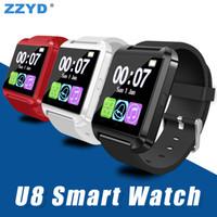Wholesale Ip Control - ZZYD U8 Bluetooth Smart Watch Altimeter Anti-lost 1.5 inch Wrist Watch U Watch For Smart phones Samsung S8 Note 8 iP 8