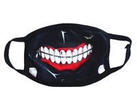lustige mundmasken großhandel-200 stücke Tokyo Ghul 2 Kaneki Ken Horror Halloween Cosplay Maske Winter Baumwolle Lustige Warme Mund anti-staub Gesichtsmaske