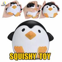 juguetes de celulares al por mayor-Squishy Slow Rebound Jumbo Juguete Bun Toys Pingüino Animales Kawaii Squishies Squeeze Lindo Teléfono Celular Correa Juguetes Niños Bebé Regalo