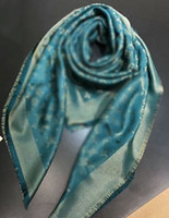 Wholesale Brown Blue Green Wires - Top qualtiy Winter Scarf Women Luxury Brand Gold wire scarves Big Size 140*140cm Scarves design Infinity Scarf Women Pashmina