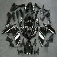 ingrosso scaffali aftermarket per yamaha r1-colori + Regali Stampo per iniezione ABS Black Fairing per Yamaha YZFR1 2007 2008 YZF-R1 07 08 YZF R1 kit plastica carrozzeria aftermarket
