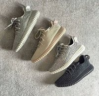 Wholesale Luxury Leather Sport Shoes Men - 4 Color 350 V1 Shoes Kanye West SPLY Mens Shoes Designer Running Shoes For Men Women Luxury Sport Canvas Casual Sneakers Size 13