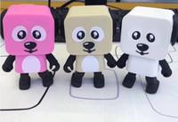 dog mp3 оптовых-Новое прибытие мини bluetooth динамик горячие продать смарт танцы собака колонки новый мульти Портативный Bluetooth колонки громкоговоритель MP3 музыкальный плеер