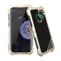 bozuk iphone telefonlar toptan satış-SamsungS7 S7 Kenar S8 S8P S9 S9P için 3-in-1 Yüksek Çözünürlüklü Lens Koruyucu Toz geçirmez Su geçirmez ve Kırılmaz Metal Cep Telefonu Kılıfı