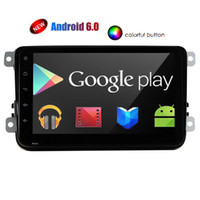 Wholesale obd2 16 - Double Din Car Radio Stereo Quad-core Android 6.0 Stereo System 8'' Capacitive touchscreen Headunit GPS Navigation Bluetooth 4G 3G WIFI OBD2