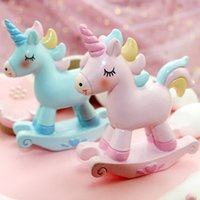 Wholesale silicone hose quality resale online - High Quality Unicorn Cake Topper Little Hose Decor Accessories Halloween Birthday Party Event Supplies Kids Birthday Cake Topper Decoration