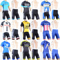 Wholesale France Cream - 2018 Tour de France Men Cycling Lotto DATA BORA QUICK STEP AG2R New Team jersey bib shorts Quick Dry Bicycle Bike wear clothing