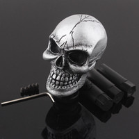 Wholesale skull knobs - Universal Manual Car Gear Stick Shifter Knob Shift Lever Carved Skull Silver New