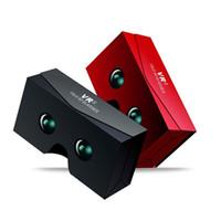 ingrosso realtà virtuale google 3d cartone in plastica-Google Cartone in plastica PET VR 3D occhiali occhiali realtà virtuale più leggero e più economico vr cielo per 4-6 pollici smart phone