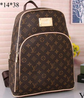 Wholesale women laptop backpack - Luxury brand women bag School Bags PU leather Fashion Famous designers backpack women travel bag backpacks laptop bag