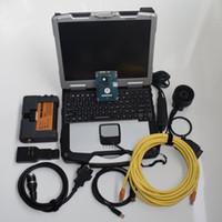bmw icom a2 laptop großhandel-für bmw diagnosewerkzeug icom a2 mit laptop hardbook cf30 touchscreen festplatte 500 gb ista win7 system mit hochwertiger platine