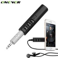 haut-parleurs bluetooth achat en gros de-Onever Universel 3.5mm Jack Mains Libres Audio Récepteur Audio Sans Fil Bluetooth Kit Voiture Auto AUX Adaptateur pour Président Casque Voiture