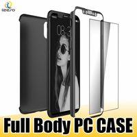 чехлы для пк оптовых-Для iPhone Х 360 градусов полное покрытие тела ультра тонкий корпус ПК закаленное стекло протектор экрана для Samsung S9 S9Plus с розничной упаковке
