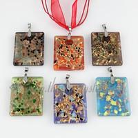 Wholesale cheap lampwork pendants - Glitter Italian venetian lampwork blown murano glass pendants for necklaces jewelry cheap fashion jewellery