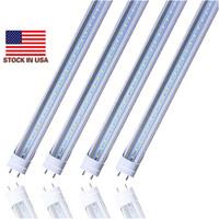 tubo led de 4 pies al por mayor-Stock en EE. UU. - 4 pies de tubo led Luces T8 18W 20W 22W SMD2835 4 pies Led Bombillas fluorescentes 1200 mm 85V-265V G13 Tienda Iluminación ligera
