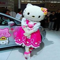 Wholesale Characters Cartoon Mascot Costumes - factory sale hello kitty cat cartoon costume Mascot Costume, Hello Kitty Cat Character Costumes Apparel Adult Size.