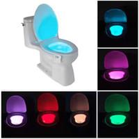 empfindliche bewegungssensorlampe großhandel-Smart-PIR Sensor WC-Sitz LED-Lampe RGB 8 Farben, die Beleuchtung Sensitive Bewegung aktivierte LED-Lampe für Badezimmer Licht Bowl