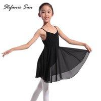 ingrosso abiti di giacca di balletto-Vestito da Tutu di balletto di balletto di chiffon di ginnastica da bambina, da bambina, da ballo