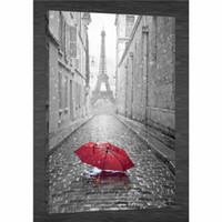 дождь оптовых-КРАСНЫЙ ЗОНТИК ДОЖДЬ PARIS EIFFEL,HD холст печать Home Decor Art живопись / (без рамы/в рамке)