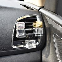 Wholesale auto perfume car air freshener - Car Ornament Decoration Perfume Empty Bottle Vents Clip Auto Air Freshener Automobiles Air Conditioner Outlet Fragrance Smell Diffuser