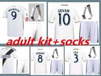 jersey de zardes venda por atacado-LA Galaxy Futebol jersey kit adulto + meia 18 19 GERRARD Los Angeles Camisa ZARDES # 9 Zlantan Ibrahimovic camisa de futebol kit completo com meias