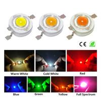 led diyot beyaz smd toptan satış-10 Adet 1 W 3 W Yüksek Güç LED Işık Yayan Diyot Led Çip SMD Sıcak Beyaz Kırmızı Yeşil Mavi Sarı Spotlight Downlight Lamba Için ampul