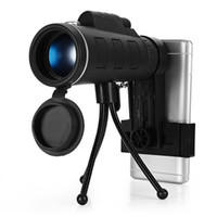 ingrosso treppiedi telescopici-40X60 Telescopio Monoculare Clip Telefono Treppiede HD Visione Notturna Prisma Scope Per La Caccia Camping Arrampicata Pesca con Bussola 10 pz in vendita al dettaglio