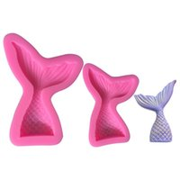 Wholesale candy mold maker for sale - Group buy Mermaid Shaped Mould Pink Silicone Mold for Cake Chocolate Baking Candy Maker DIY Cakes Soaps Kitchen Tools Bakeware ty2 ff