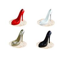 Wholesale Racks For Wine - High Heel Shoe Wine Bottle Holder Shoes Design Resin Wine Bottle Holder Rack Shelf for Home Party Restaurant wen5466