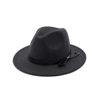 Unisex Wool Trilby Hat Felt Panama Fedora Jazz Sun Beach Style with Black  Leather Band for Man Women Gambler Fedoras Cap da666a8ea520