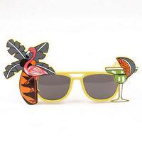 смешные очки оптовых-Christmas glasses Party Novelty Fruit Pineapple Sunglasses Flamingo Party Decoration Hawaiian Funny Glasses Eyewear Hen Party