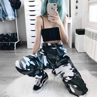 Wholesale New Fashion Military Pant - Women's Fashion Autumn and Winter New Camouflage Hip-hop Harlan Casual Trousers Military Pants Without Belt