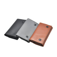 Wholesale pipe tobacco pouches - Artificial Leather Tobacco Pouch Pipe Cigarette Holder Wallet Bag