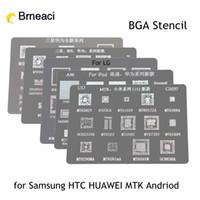 Wholesale Reball Bga - BGA Direct Heating Reballing Stencil tin plate For Samsung HUAWEI HTC MTK Android Phone IC Chip BGA Reball Stencil Kit