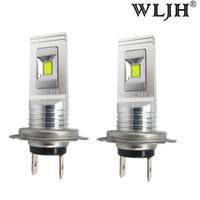 automóvil al por mayor-WLJH blanco llevó la luz auto del día de la lámpara de conducción de la niebla LED H7 del coche DRL 1500lm AC 9V-30V bulbo de la alta calidad 80w