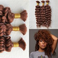 Wholesale unprocessed peruvian braiding hair online - Braiding Hair No Weft Unprocessed Deep Wave Brazilian Hair Bulk For Braiding
