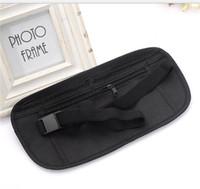 Wholesale hide bag man resale online - Waist Bag For Sports Running Fanny Pack Man Woman Travel Belt Bags With Hidden Zippered Compact Storage Money Hot Sale yl dZ