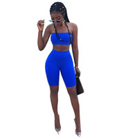 Discount sexy party leggings - New Strapless + Knee Length Leggings Pants 2PCS Sexy Bodycon Bandage Night Club Party Women's Set Fashion Lady BeachTracksuit