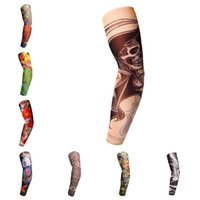 Wholesale arm flowers - Summer seamless Tattoo cuffs Flower arm cuff breathable sunscreen Arm Tattoo Sleeves Sun Protection arm sleeve T3I0364
